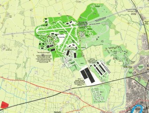 Burtonwood airfield and base complex