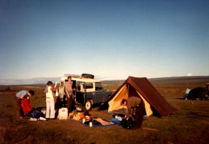 Camp at Geysir