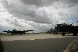 August - 2 lancs and a vulcan, RAF Waddington